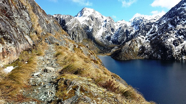 Lake Harris, Routeburn Track, Mt Aspiring National Park, New Zealand.