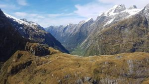 Milford Track Mackinnon Pass fly over